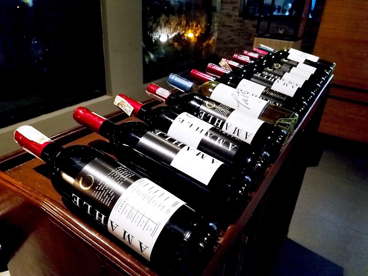 ワインも選べます