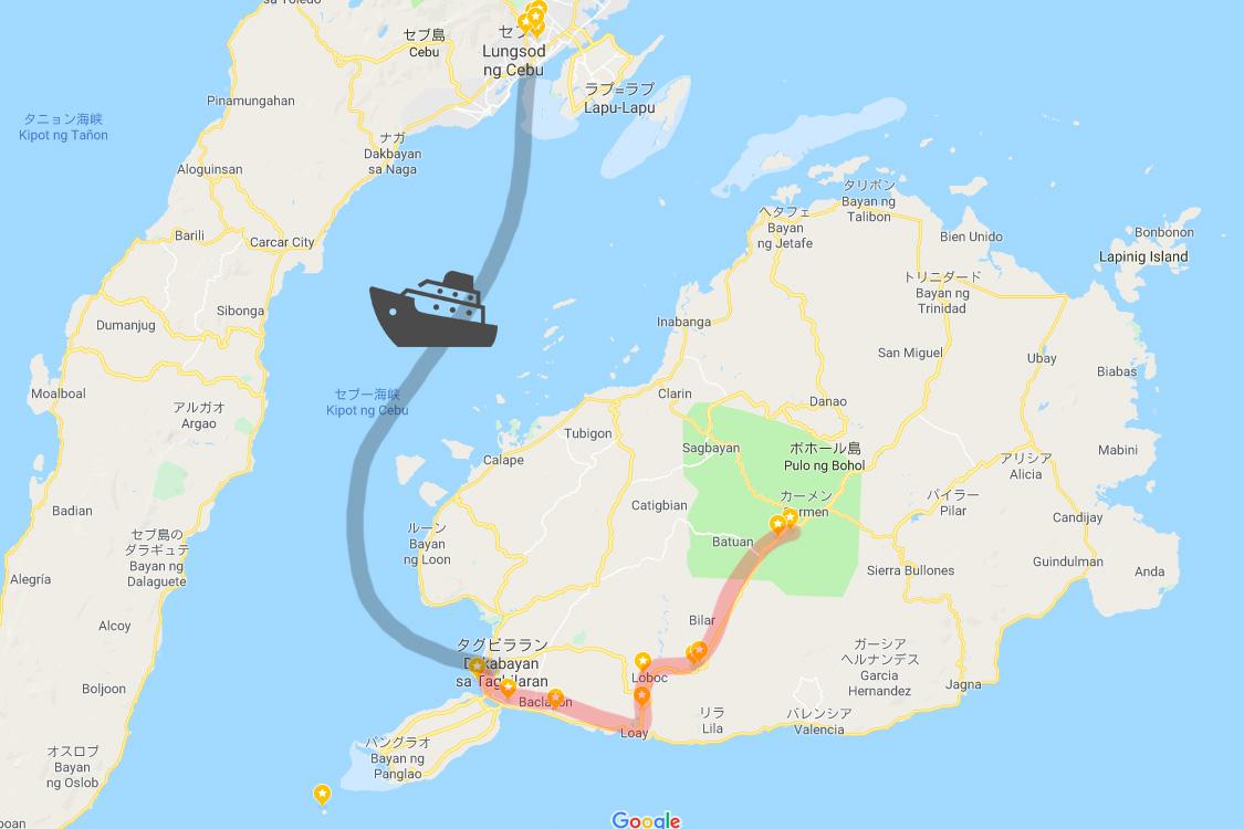 セブ島からボホール島の高速船